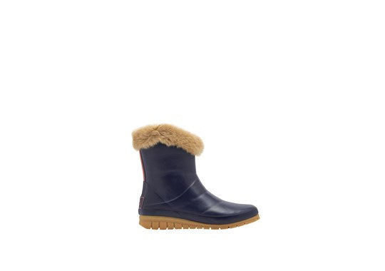 Ladies Chilton Short Padded Welly French Navy Blue