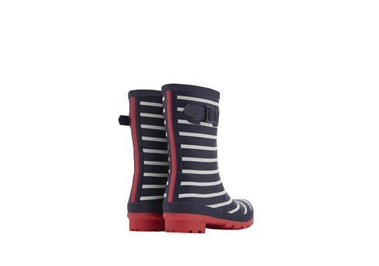 Ladies Molly Welly Mid Height Print French Navy Stripe