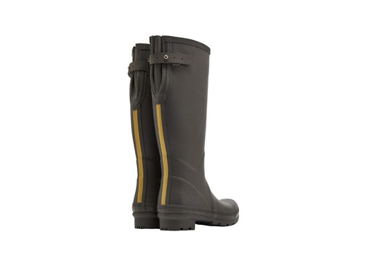 Joules Ladies Field Welly With Adjustable Back Gusset Olive