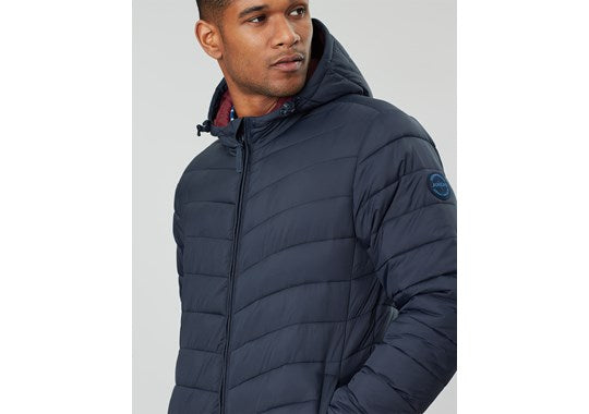 Joules Mens Hooded Go To Hooded Padded Jacket Navy 203592