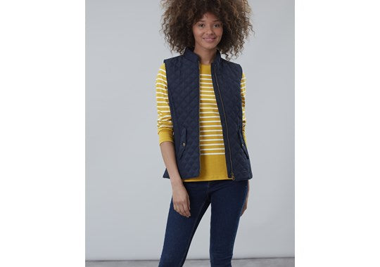 Joules Ladies Minx Quilted Gilet Navy