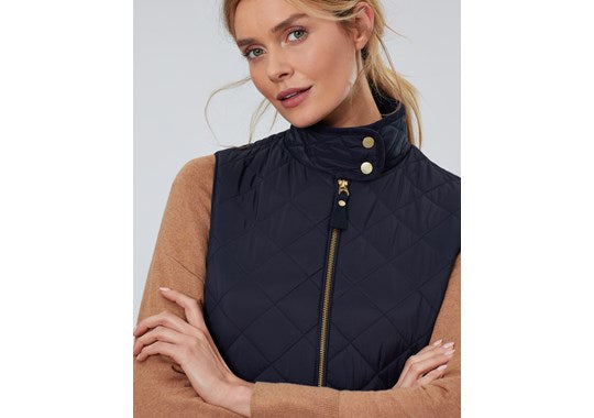 Joules Ladies Brookdale Diamond Quilted Gilet Navy