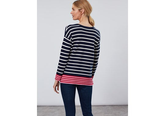 Joules Ladies Uma Boat Neck Jumper Navy