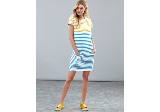 Joules Ladies Francis Square Neck Jersey Dress