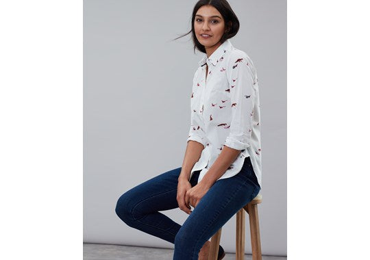 Joules Ladies Lucie Woven Shirt Country animals