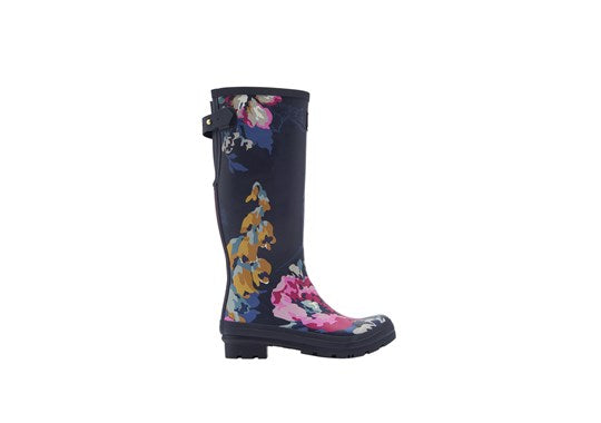 Joules Ladies Print Welly With Adjustable Back Gusset 30th Anniversary Floral Print