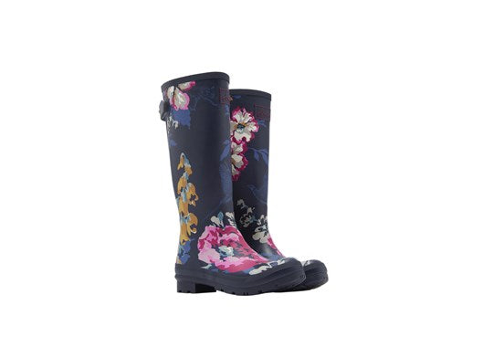 Joules Ladies Welly With Adjustable Back Gusset 30th Anniversary Print