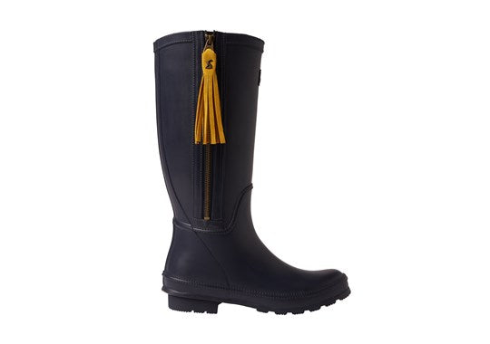 Joules Ladies Collette Welly With Interchangeable Tassels French Navy