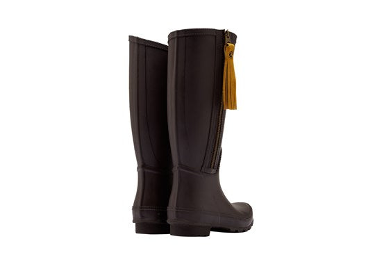 Joules Ladies Collette Welly With Interchangeable Tassels Dark Brown