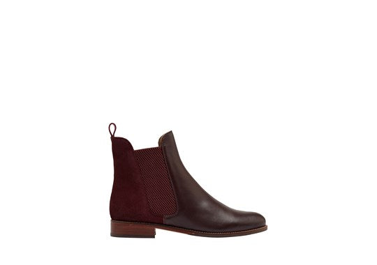 Joules Ladies Westbourne Premium Chelsea Boot OxBlood