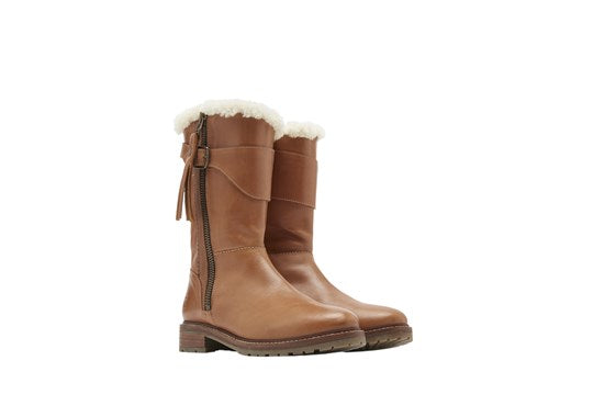 Joules Ladies Finchdale Mid Calf Water Resistant Boot Tan