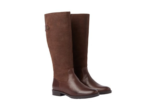 Joules Ladies Canterbury Knee High Boot Dark Brown