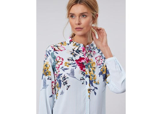 Joules Ladies Elvina Button Front Woven Top 30th Anniversary Print Floral