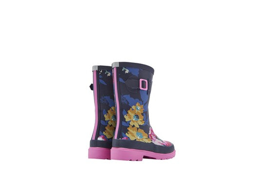 Joules Girls Welly Print 30th Anniversary Floral Print