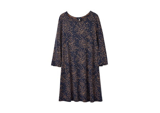 Joules Ladies Hayden Round Neck Jersey Tunic Navy Animal