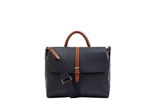 Joules Ladies Banbury Carriage Leather Tote Handbag  Bag French Navy