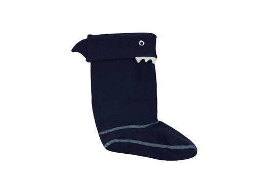 Joules Boys Smile Character Welly Sock Navy Shark