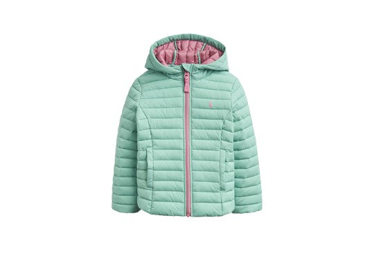 Joules Girls Kinnaird Padded Packable Coat Pistachio Green