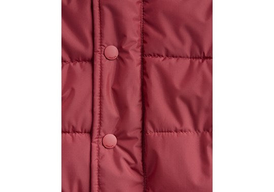 Joules Boys Lodge Detachable Hood Padded Jacket Coat Red