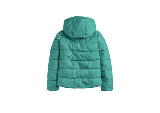 Joules Boys Lodge Detachable Hood Padded Jacket Coat Turtle Green