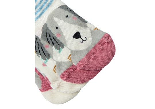 Joules Baby Neat Feet 2 Pack Character Socks Multi Dogs