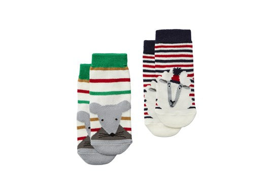 Joules Baby Neat Feet 2 Pack Character Socks Sheep Mouse