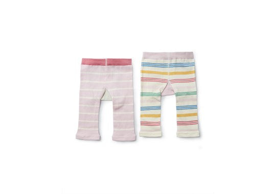 Joules Baby Lively Instarsia Leggings 2 Pack Multi Cat & Dog