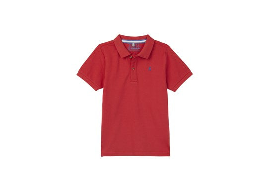Joules Boys Woody Polo T Shirt Mini Me Collection Red