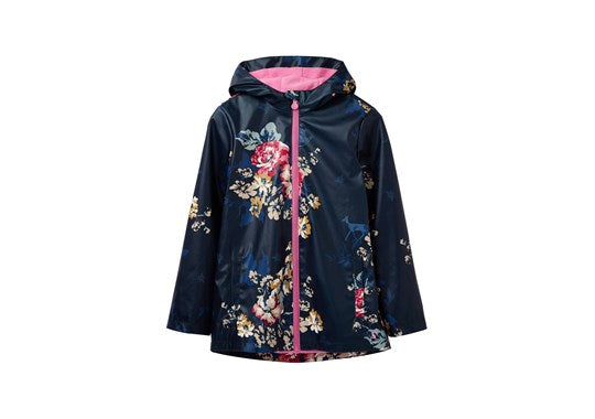 Joules Girls Raindance Showerproof Rubber Coat 30th Anniversary Floral Print