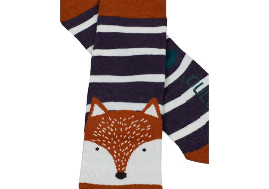 Joules Boys Eat Feet Character Sock Navy Fox