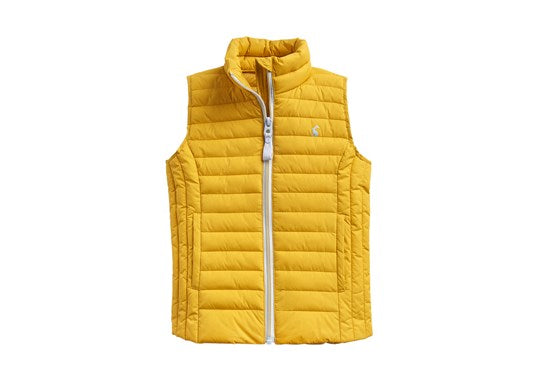 Joules Girls Croft Padded Gilet Warm Welcome Antique Gold