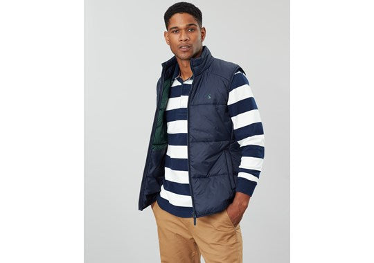 Joules Mens Caldbeck Wide Barrel Gilet - Ripstop Navy