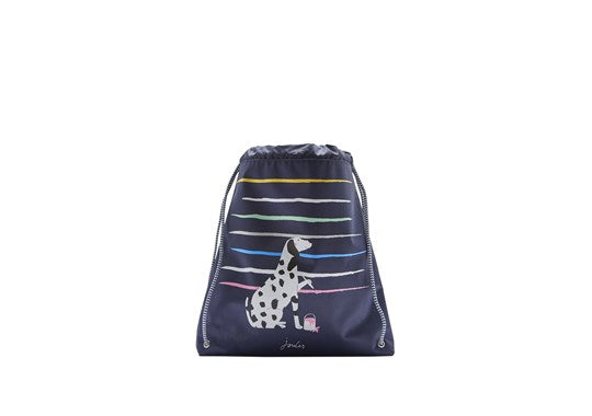 Joules Girls Active Bag Drawstring Bag Dalmation Dog Print