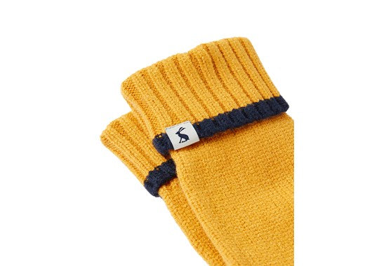 Joules Ladies Snowday Glove Knitted Gloves Antique Gold