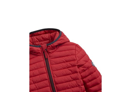 Joules Boys Cairn Pack Away Padded Jacket London Bus Red