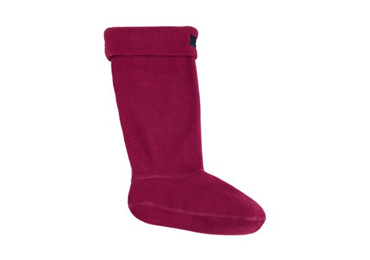 Joules Ladies Welton Fleece Welly Liners Socks Berry