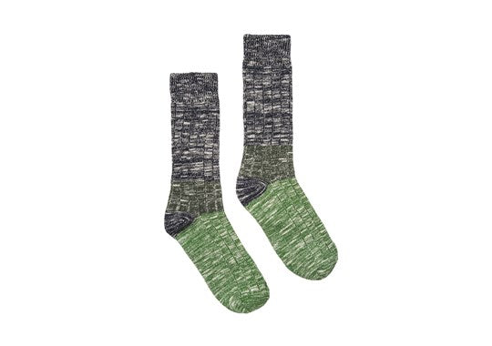 Joules Mens Boot Sock Chunky Ankle Socks Green Stripe