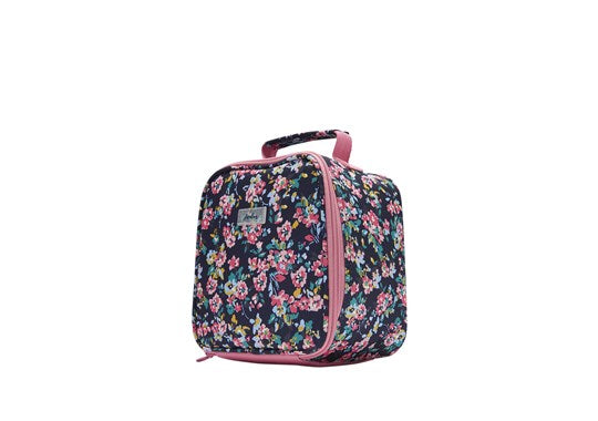 Joules Girls Munch Bag Lunchbag Navy Ditsy Floral