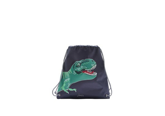 Joules Boys Active Drawstring Bag Navy Dino