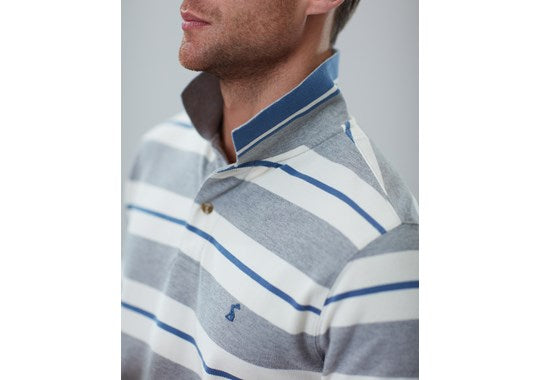 Joules Mens Filbert Striped Classic Fit Polo Grey Stripe