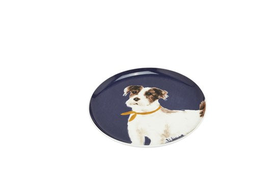 Joules Homeware Kitchen Single Porcelain Painted Side Plate Navy Dog