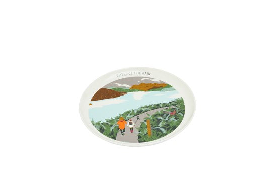 Joules Homeware Kitchen Single Porcelain Painted Side Plate White Rain Location