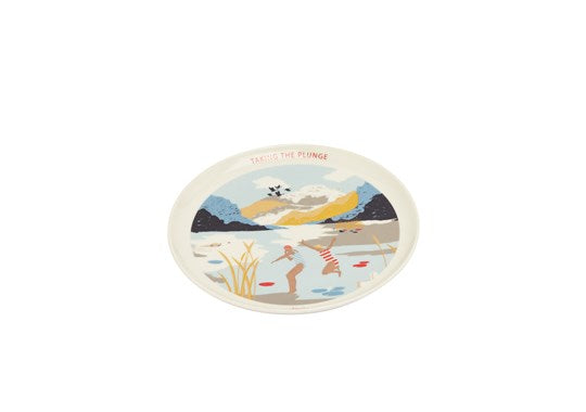 Joules Homeware Kitchen Single Porcelain Painted Side Plate  White Swim Location