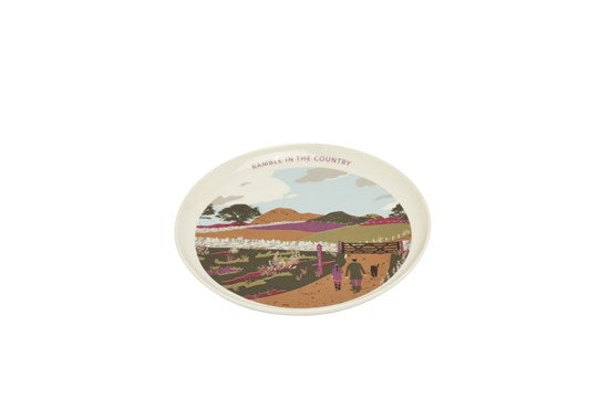 Joules Homeware Kitchen Single Porcelain Painted Side Plate White Walk Location