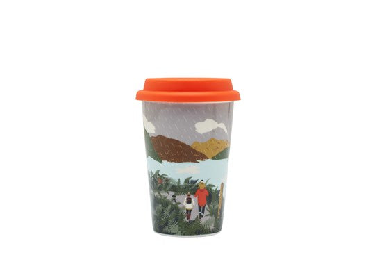 Joules Homeware Travel Mug With Silicone Lid Scenic White Rain Location