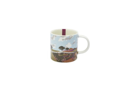 Joules Homeware Kitchen Cuppa Single Small Porcelain Printed Mug White Walk Location