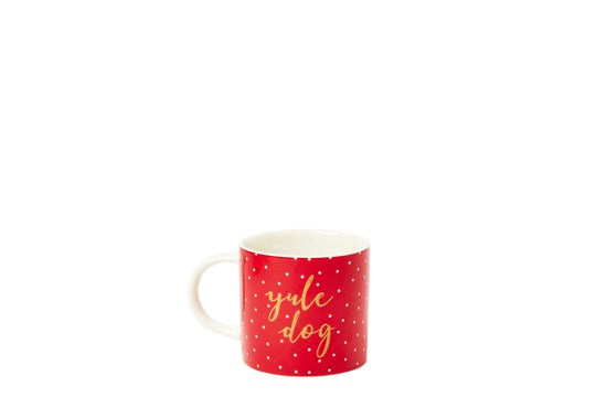 Joules Homeware Christmas Cuppa Porcelain Mug Red Xmas Dogs