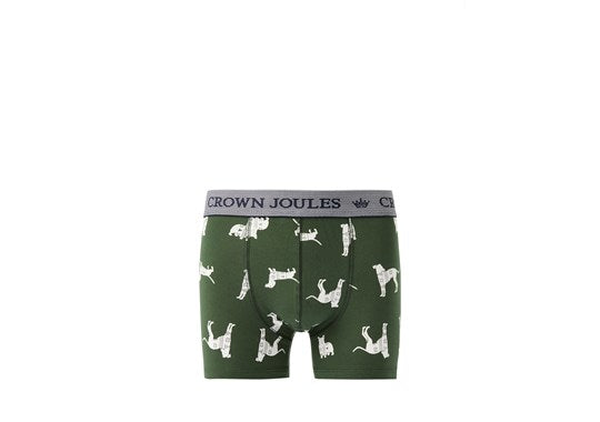 Joules Mens Crown Jewels 3 Pack Underwear Multi Animal print