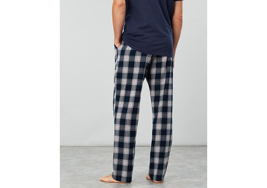 Joules Mens The Sleeper Lounge Trousers Pyjama Navy White Check