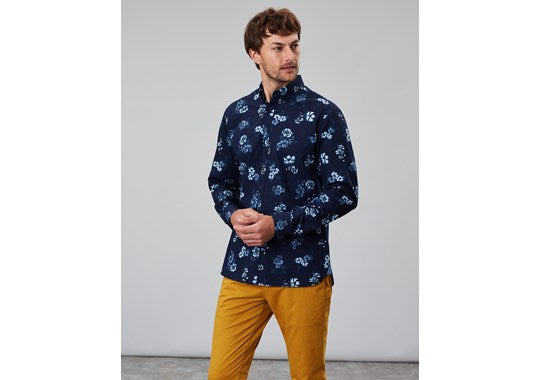 Joules Mens Invitation Long Sleeve Classic Fit Printed Shirt 30th Anniversary Print